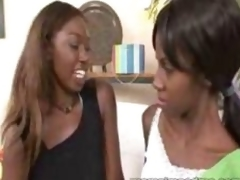Ebony mommy seduces youthful