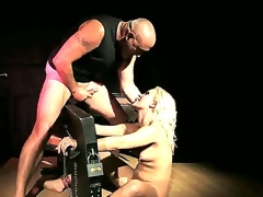 Blonde smoky doxy Lilly Spider receive a harcore fast pounding in her tight round butt by a massive throbbing shafted spades