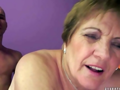 Piros is s naughty granny that gets her hirsute wet twat fucked unfathomable and hard by her sex obsessed young lover. He sticks his jock in her many times used aged vagina and this babe loves it so fucking much!