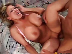 Girl with large boobs doing oral-job job peasant