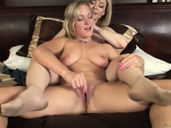 Nina with her lesbo lover as they take turns licking and fingering