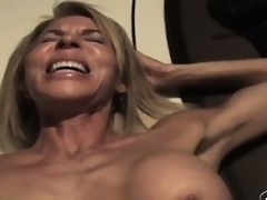 The wild of age lady sighs with pleasure as A he drives his cock deep less say no to pussy